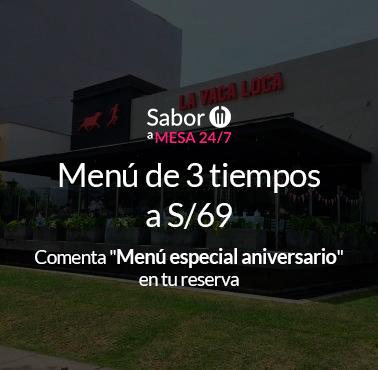 LA VACA LOCA (SANTA CRUZ) Restaurante - Reserva en restaurantes de Comida CARNES Y PARRILLAS - MIRAFLORES - MESA 24/7   LIMA - Perú