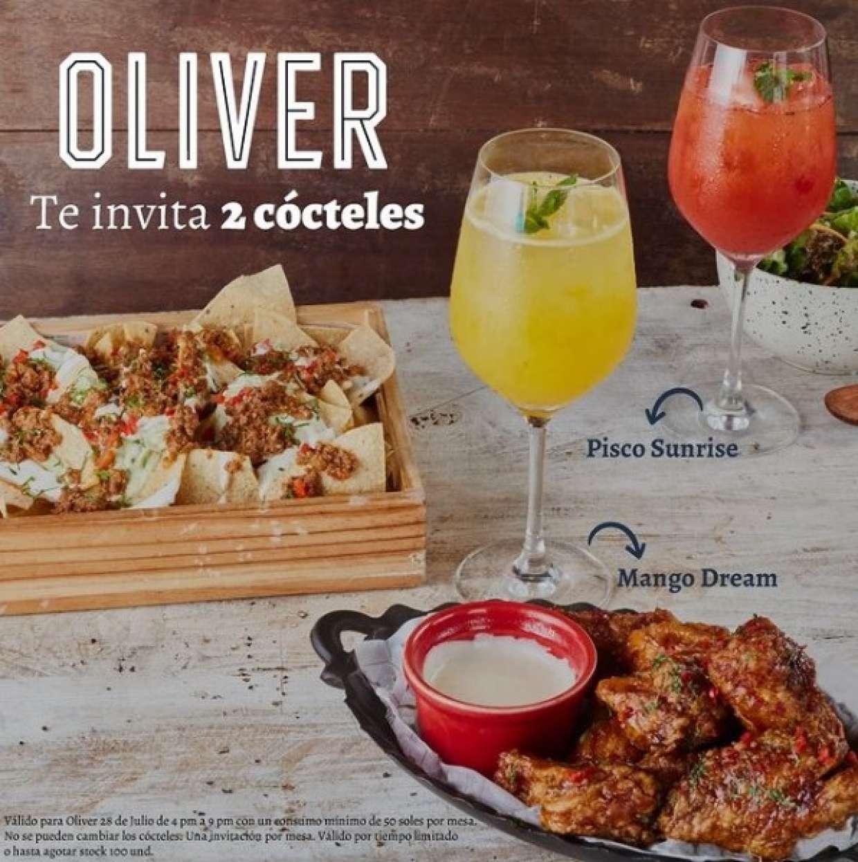 ¡Te invitamos los cócteles en Oliver Miraflores!