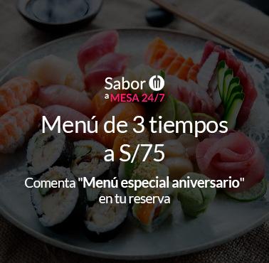 TOSHI (MIRAFLORES) Restaurante - Reserva en restaurantes de Comida NIKKEI / JAPONESA - MIRAFLORES - MESA 24/7   LIMA - Perú